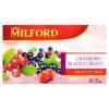 Milford vörösáfonya-feketeribizli ízű gyümölcstea 20 filter 50 g