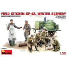 MiniArt FIELD KITCHEN KP-42. WINTER SCENERY figura és jármű makett MiniArt 35098 makett figura