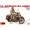MiniArt - U.S.Motorcycle WLA with Rider
