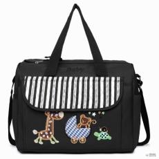 Miss Lulu London 08348 -matternity Changing táska Animal Friends fekete