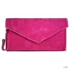 Miss Lulu London E1405 - Miss Lulu Suede Envelope Táska Clutch táska rózsaszín