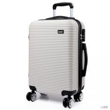 d4d70534be65 Miss Lulu London K6676L - KONO 20 Inch bőrönd vízszintes csíkos bőrönd  utazótáska fehér kézitáska és