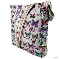 Miss Lulu London L1104B - Miss Lulu szögletes táska pillangó szürke