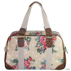 Miss Lulu London L1106F - Miss Lulu Oilcloth utazó táska virágos Dot