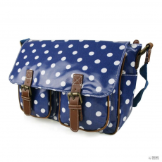 Miss Lulu London L1107D2 - Miss Lulu Oilcloth táska Polka Dot Navy