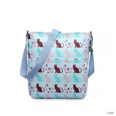 Miss Lulu London LC1644CT - Miss Lulu Regularmattte Oilcloth szögletes táska Cat kék