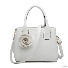 Miss Lulu London LG1849-MISS LULUbőr rózsa ORnévNT TWILL kézi táska fehér