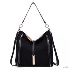 Miss Lulu London LT1715 - Miss Lulu Suede Effect Slouchy válltáska táska fekete