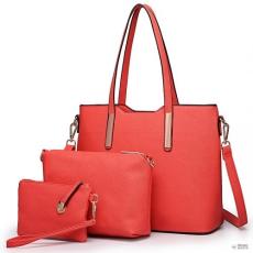 Miss Lulu London LT6648 - Miss Lulu három darab bevásárló táska válltáska táska és Táska Clutch piros