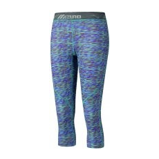 Mizuno Impulse 3/4 Printed Tight Multi Prt/Blue Atoll női nadrág, M