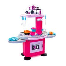 Mochtoys Chefs: Rózsaszín-lila játékkonyha 26 kiegészítővel konyhakészlet