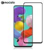Mocolo Samsung Galaxy A51 kijelzővédő edzett üvegfólia (0.33mm, 9H, 3D, fekete), prémium minőség