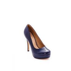 Montonelli Prémium Valódi Bőr női kék magassarkú cipő 35 /kac