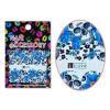 Moonbasanails Akril hatású matrica Koponyák kék virágágyon A1094