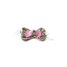 Moonbasanails Köröm ékszer Rózsaszín masnis körömdíszítő