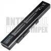 MSI CX640X Series 4400 mAh 6 cella fekete notebook/laptop akku/akkumulátor utángyártott