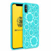 MSVII szilikon tok Flower Flexible Case Silicone TPU iPhone X Kek