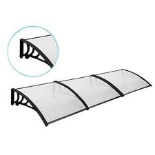 Műanyag előtető 90*300 cm, fekete kerti bútor