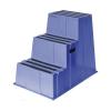 Műanyag munkahelyi lépcsők Manutan, kék, 3 fok