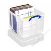 Műanyag tárolódoboz, bakelitek, iratrendezők tárolására, 35 liter, REALLY USEFUL (CSDRU35CXL)