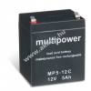 Multipower Ólom akku 12V 5Ah (Multipower) típus MP5-12C ciklusálló