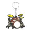 Musician Designer Music Key Chain Drum Set Red