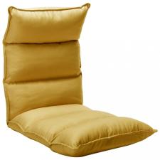 Mustársárga összecsukható szövet padlómatrac bútor