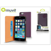 Muvit Apple iPhone 6/6S flipes tok kártyatartóval - Muvit Slim and Stand - lila