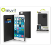 Muvit Apple iPhone 6 Plus/6S Plus flipes tok kártyatartóval - Muvit Wallet Folio - black