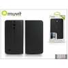 Muvit Huawei Ascend G526 flipes tok kártyatartóval - Muvit Slim and Stand - black