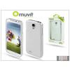 Muvit Samsung i9500 Galaxy S4 hátlap képernyővédő fóliával - Muvit Clear Back - transparent