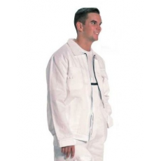 MV fehér 100% pamut kabát (MÉRETEK: 42-64) GAN458..