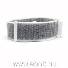 Mybandz 20SKU1605 rugalmas szövet óraszíj / fehér-szürke / 20mm óraszíj