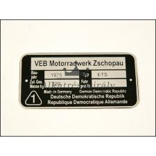 MZ/ETS TÍPUSTÁBLA /ETS/ MZ/ETS - UNIVERZÁLIS egyéb motorkerékpár alkatrész