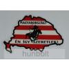 Nagy-Magyarország árpádsávos, Magyarország én így....külső matrica (15x10cm)