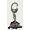 Nagy-Magyarországos nemzeti színű angyalos (39x24 mm) kulcstartó