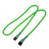 Nanoxia 3-Pin Molex hosszabbító - 60 cm - neon zöld