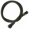 Nanoxia 3-Pin Molex hosszabító 30 cm harisnyázott fekete