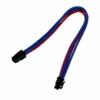 Nanoxia 4-Pin P4 hosszabító 30 cm - Kék/Piros
