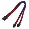 Nanoxia 8-Pin EPS hosszabbító - 30 cm - Kék/Piros