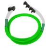 Nanoxia SATA III, 4 portos kábel hajlított, neon-zöld