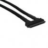 Nanoxia SATA kombinált kábel - egyenes harisnyázott fekete /NXSKKGE/