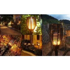 Napelemes, kerti LED fáklya kültéri világítás