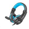 Natec Fury Gaming Wildcat fejhallgató - fekete-kék