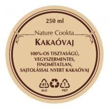 Nature Cookta Kakaóvaj 250 ml olaj és ecet