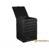 NATURE fekete termo-komposztáló láda 300 L 60 x 60 x 90 cm