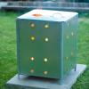 NATURE galvanizált acél kerti hulladékégető 46 x 46 x 65 cm