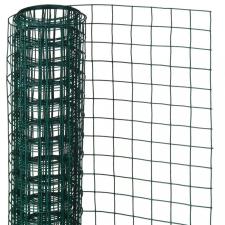 NATURE zöld négyszögletű műanyag bevonatú acél drótháló 0,5x5m 13mm kerti dekoráció