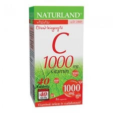 Naturland 1000 mg C-vitamin tabletta 40 db vitamin
