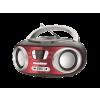 NAVON NPB200 bluetooth-os hordozható rádió USB/SD/AUX csatlakozással (USB táp), piros